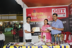 Rahul Ranjan Student of BBA(1st Year) has been awarded Best Performance award for his Excellent Managing Ability in organizing Event in Swadeshi Mela