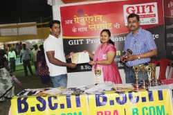 Debasish kapri Student of  BBA(1st Year) has been awarded Best Performance award for his Excellent Managing Ability in organizing Event in Swadeshi Mela