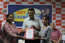 EKTA KUMARI Student of BSc IT(1st Year) has been awarded GIIT Academic Excellence Award - 2015