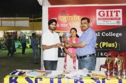 Kirat Singh Student of BSc IT(1st Year) has been awarded 1st Prize, Public Announcement award for his Excellent Managing Ability in organizing Event in Swadeshi Mela