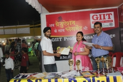 Kirat Singh Student of BSc IT(1st Year) has been awarded Best Performance award for his Excellent Managing Ability in organizing Event in Swadeshi Mela