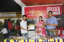 Debabrata Majumdar Student of BSc IT(1st Year) has been awarded Best Performance award for his Excellent Managing Ability in organizing Event in Swadeshi Mela