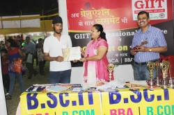 Manpreet Singh Bhatia Student of BBA(1st Year) has been awarded Best Performance award for his Excellent Managing Ability in organizing Event in Swadeshi Mela