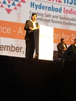 Alumni KD Patil, Executive President speaking at Global HSE Conference