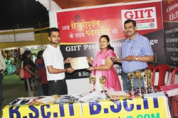 Birendra Nath Maity Student of BSc IT(1st Year) has been awarded Best Performance award for his Excellent Managing Ability in organizing Event in Swadeshi Mela