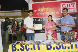Subham Kant Student of BSc IT(1st Year) has been awarded Best Performance award for his Excellent Managing Ability in organizing Event in Swadeshi Mela